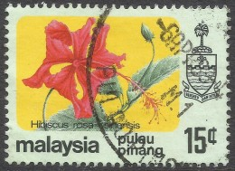 Penang (Malaysia). 1979 Flowers. 15c Used. SG 90 - Malaysia (1964-...)