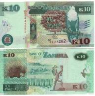 ZAMBIA   10 KWACHA    P58     2015   UNC - Zambia