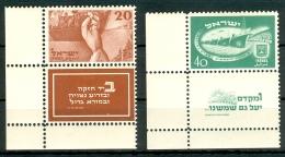 Israel - 1950, Michel/Philex No. : 30/31, CORNER TAB, - MNH - Full Tab - - Neufs (avec Tabs)
