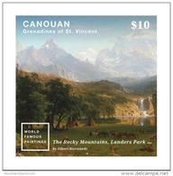 Canoun Grenadines 2015 Rocky Mountains Lander´s Peak Artwork Bierstadt MNH ** - St.Vincent E Grenadine