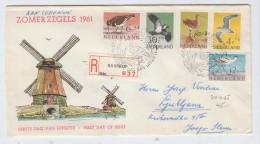 Netherlands BIRDS FDC 1961 - Vogels