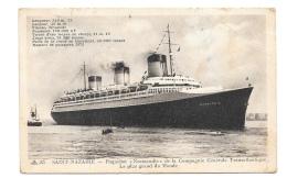 (8812-44) Saint Nazaire - Paquebot Normandie De La Compagnie Générale Transatlantique - Le Plus Grand Du Monde - Saint Nazaire
