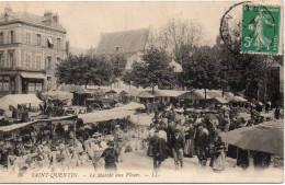 35. CPA 02 SAINT QUENTIN. LE MARCHE AUX FLEURS - Saint Quentin