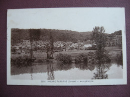 CPA 25 HYEVRE PAROISSE Vue Générale 1939 RARE PLAN SEPIA  Canton BAUME LES DAMES - Otros Municipios