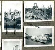 Exposition Universelle PARIS 1937 Trocadéro Pavillon Tunisie Champagne Norvège Allemagne Savoie Alsace Pont  8 Photos - Altri