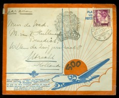 NEDERLANDS INDIE * KLM * LP * BRIEFOMSLAG Uit 1937 Van BATAVIA * Naar UTRECHT (10.448g) - Niederländisch-Indien