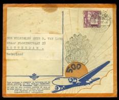 NEDERLANDS INDIE * KLM * LP * BRIEFOMSLAG Uit 1937 Van BATAVIA * Naar Rotterdam (10.448i) - Niederländisch-Indien