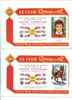 BVD1 LOT DE 8 BUVARDS Le Club Rouge Et Or - Buvards, Protège-cahiers Illustrés
