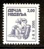 054. Yugoslavia (Serbia), 2000, Children´s Week, Surcharge, MNH (**) - 1992-2003 Federal Republic Of Yugoslavia