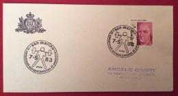SAN MARINO IX CAMPIONATO EUROPEO JUONIORES DI PESISTICA ANNULLO SPECIALE SU BUSTA DEL 7/5/83 - Haltérophilie