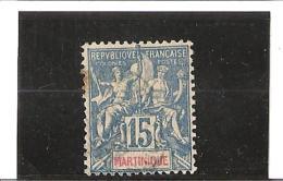 TIMBRES DES COLONIES FRANCAISES DE  1892  N° 36  Oblitéré - Gebraucht