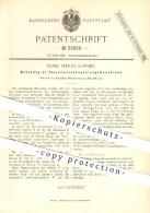 Original Patent - Franz Frenay In Mainz , 1885 , Maschine Zum Verkapseln Von Flaschen , Flasche , Verschluss , Glas !!! - Historische Dokumente