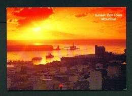 MAURITIUS  -  Port Louis  Sunset  Unused Postcard - Mauritius