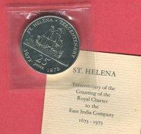 25 PENCE 1673-1973 FDC 45 - Saint Helena Island