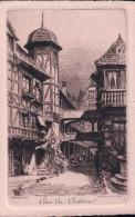 Eau Forte De Ch. Pinet, France Strasburg Cour Du Corbeau (736) - Illustrators & Photographers