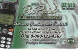 BELIZE - Mobile Phone, BTL Prepaid Card $20, Used - Belize