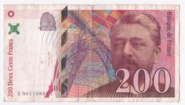 200 Francs Eiffel 1997 Série E 061108083 - 1992-2000 Ultima Gama