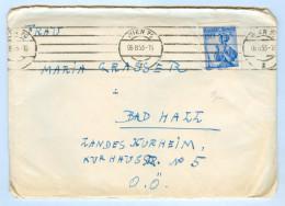 Kuvert Brief 4540 Landeskurheim Kurhausstraße Bad Hall Wien 1953 Österreich OÖ Letter Traunviertel Oberösterreich AUT - Mitteilung