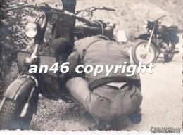 LAMBRETTA(MOTO) D´EPOCA -23/5/1956-TRASPORTI-FOTO D´EPOCA-FOTOGRAFIA BUONA CONSERVAZIONE- - Fotografía