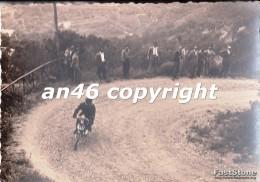 MOTO-GARA MOTOCICLISTICA -LIGURIA-TRASPORTI-FOTO D´EPOCA-FOTOGRAFIA BUONA CONSERVAZIONE- - Fotografia
