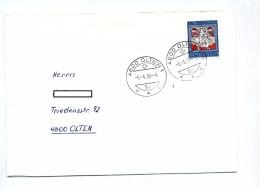 Lettre Cachet Olten Sur Patria 66 Curiosié Date 6/6/66/6 - Postmark Collection