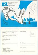 QSL-Karte 4501 Neuhofen An Der Krems CB-Station Achilles Welser Straße Kremstal Card Carte Traunviertel Oberösterreich - Amateurfunk