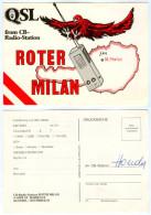 QSL-Karte 4502 Sankt Marien CB-Station Roter Falke St. Kremstal Funkkarte Falcon Card Carte Traunviertel Österreich Funk - Amateurfunk