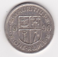 MAURITIUS 1 RUPPEE 1990 - Mauritania