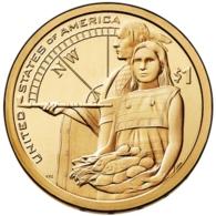 1 $ Dollaro Nativi Dollar Sacagawea 2014 DENVER Serie Native Dollar USA - Émissions Fédérales