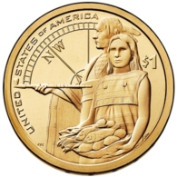1 $ Dollaro Nativi Dollar Sacagawea 2014 PHILADELPHIA Serie Native Dollar USA - Émissions Fédérales