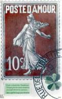 La Poste D'Amour - Timbre Semeuse à 10 C Rouge - Grand Format - Timbres (représentations)