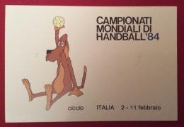CAMPIONATI MONDIALI DI HANDBALL PALLAMANO  84 CARTOLINA ED ANNULLO SPECIALE ROMA EUR 1984 - Pétanque
