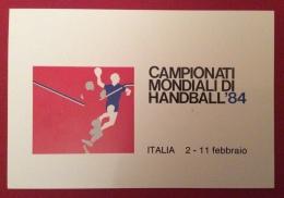 CAMPIONATI MONDIALI DI HANDBALL PALLAMANO  84 ITALIA 2-11 FEBBRAIO CARTOLINA ED ANNULLO SPECIALE ROMA EUR 1984 - Pétanque