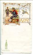 BVD2 Menu Style Art Nouveau. Saint Galmier Source Badoit Soldat D'infanterie De Ligne, Illustrateur Bigeot - Menus