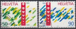 Suiza 1990 Nº 1353/54 Usado - Suiza