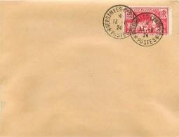 Enveloppe 1924 Cachet VERSAILLE CONGRES - Marcophilie (Lettres)