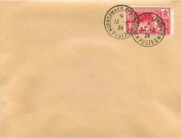 Enveloppe 1924 Cachet VERSAILLE CONGRES - 1921-1960: Modern Period