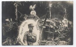 CARTE PHOTO--14-18 --Le Maréchal Foch  -RECTO/VERSO -C41 - Guerre 1914-18