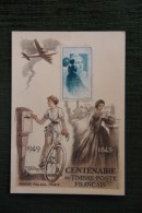 Centenaire Du Timbre Poste FANCAIS - ( 1849 - 1949 ). - Poste & Facteurs