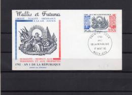 FDC  WALLIS ET FUTUNA   LA LOI JUSTICE  EGALITE     TIMBRE    N° YVERT   320 PA 175  1992 - FDC