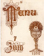 00 - MENU (2) - 7 JUIN 1936 - Menus