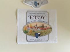 0521 - Suisse  Etoy  Réserve De La Commune 1989 - Etiquettes