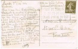 O.MEC FLIER FOIRE DE TOULOUSE SUR CPA - Marcophilie (Lettres)
