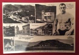 SEQUALS  PRIMO CARNERA CARTOLINA VIAGGIATA EDITORE E.CELLOTTI SEQUALS - Boxing
