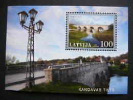 Latvia Lettland Lettonie 2008 ** MNH # Mi. 741 Block25 Latvian Bridges - Lettonie