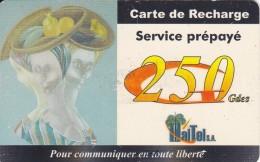 TARJETA DE HAITI DE UNA PINTURA-PAINTING DE 250 GDES (HAITEL) EXP DATE 30-SEPT-02 - Haiti
