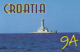 41668- PORER ISLAND, LIGHTHOUSE, QSL CARD - Croacia