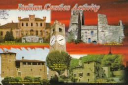 41687- MARENE, NUCETTO, MURELLO, MONDOVI, MONTEROSSO GRANA, ITALIAN CASTLES, QSL CARD - Castelli