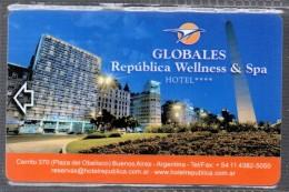 HC - ARGENTINA Buenos Aires - GLOBALES REPUBLICA WELLNESS & SPA HOTEL KEY CARD - Hotel Keycards