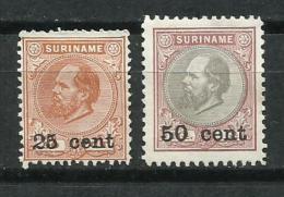 Surinam. 1900_Guillermo III. Sobrecargados. - Surinam ... - 1975